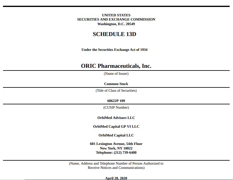 Обзор свежих IPO. Oric Pharmaceuticals