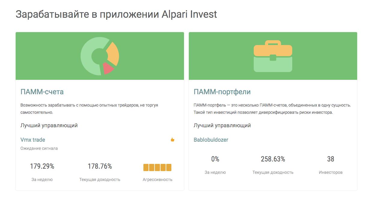 Инвестиционные сервисы Альпари: пассивный доход на Форекс для каждого